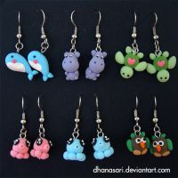 kawaii clay earrings part 07 by Dhanasari
