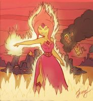 Flame princess by Ermine-Juno