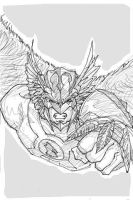 iPhone Doodle: HAWKMAN by dorkynoodle