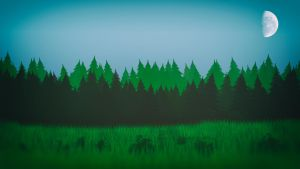 Cartoon Forest by Binary-Map