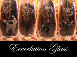 Eeveelution Glass by weisewoelfin