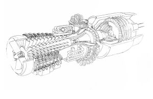 General Electric Turbo shaft by hod05