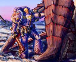 Ultramarine Tyranid Hunter by LynxC