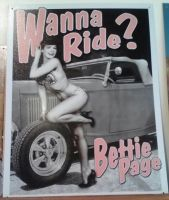 Bettie Page Tin sign by Pabloramosart