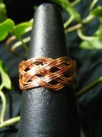 Celtic Turks Head Ring In Copper by BacktoEarthCreations