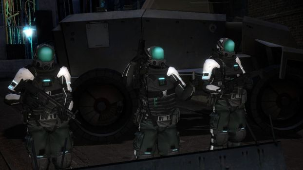 REAPER Squadron moving out with the AEGIS Armor by darksavage22