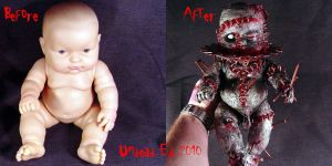 Rot Tot TORMENT ooak compare by Undead-Art