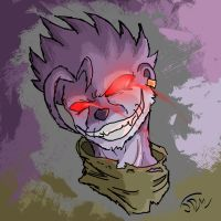 RedRing Evil Purple Otter by RushLightInvader