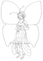 pregnant fairy2 - pencil by thestoryteller1