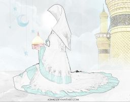 Fatima Zahra and her Son by A1m4z