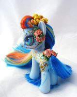 My little pony custom Martha Rosa Dia de muertos by AmbarJulieta