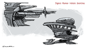 Digital Marker Vehicle Sketches by Yeti-Labs