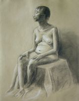 Seated Woman by CrazyChucky