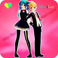 .:DT Happiness Commite Len and Miku [DL]:. by MeiHikary
