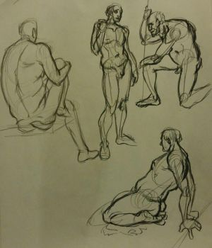 Gesture Drawing 1: 5 min by Diouveruh