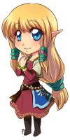 Chibi: Zelda (Skyward Sword) by Zue