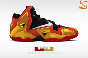 Nike Lebron XI 'Iron Man' by BBoyKai91