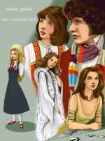 doctor who: fourth and his wonderful compagnes by DameEleusys