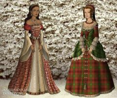 Tudor: Holiday Gowns by HC-IIIX