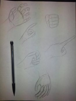 Hand Practice Sketches by zred99