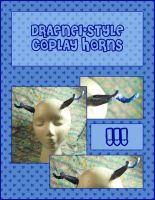 Draenei-Style Cosplay Horns by querulousArtisan