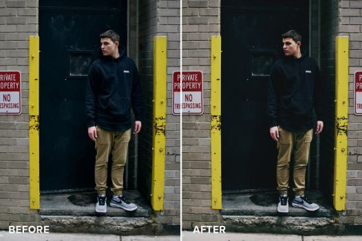 Matte Series Photoshop Actions Before/After 5 by filtergrade