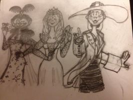 Witches of Oz Sketch by joyhorse13