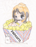 Popcorn Girl by Catsie95