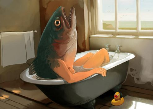 The Bathtub by tohdraws