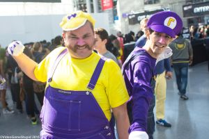 New York Comic Con 2015 - Wario and Waluigi by VideoGameStupid