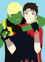 hulkling/wiccna by art-is-my-bream