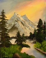 Evergreen Mountain by Moonravin