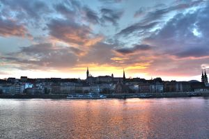 Buda at sunset by kocID