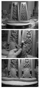 WIP The Two Door Riddle Labyrinth sculpture by yotaro-sculpts