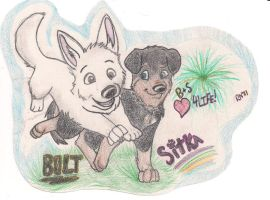Bolt And Sitka .:Commission:. by indigosith