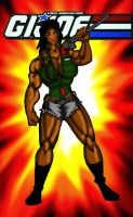 Gi Joe RoadBlock Super buff Female version 2nd by RWhitney75