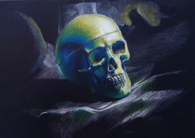 Acid skull study by NightsJester