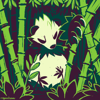 Bamboo Forest by crayon-chewer