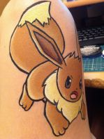 Eevee- Face Painting- Tail by sazmullium
