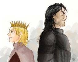 The King and the Dog - Joffrey and Sandor by sarasalazar