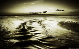 Beach Stream At Dusk by l8