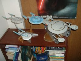 USS Enterprise models by Jandreau
