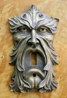 Bronze Green Man Light Switch Plate by CastShadowsStudio