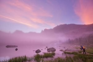 The Rainbow lake sunrise by DeingeL