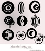circular brushes by 00cheily00