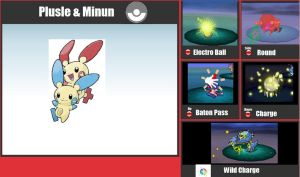 Plusle and Mimum for smash bros by Werewolf-Hero