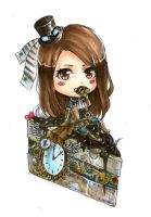 Steampunk chibi by paintedcastle