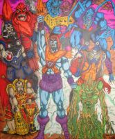 MOTU Skeletor's evil warriors by Toe-Knee-Bee-Ears