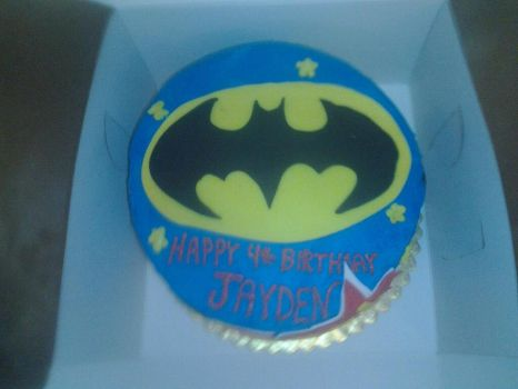 Batman cake top view by whitedove77