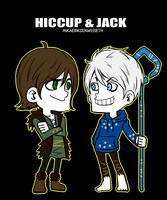 Hiccup and Jack by mikaeriksenweiseth